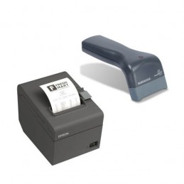 Epson TM-T20II (USB 2.0 / Série) + Datalogic Touch 65 Lite +