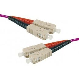 Jarretière optique duplex multimode OM4 50/125 SC-UPC/LC-UPC erika - 30 m