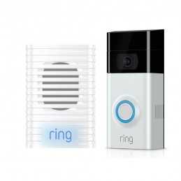 KIT INTERPHONE VIDÉO DOORBELL 2 ET CARILLON CHIME - RING