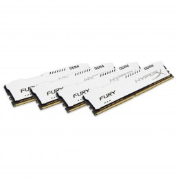 HyperX Fury Blanc 32 Go (4x 8 Go) DDR4 2400 MHz CL15