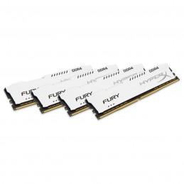 HyperX Fury Blanc 64 Go (4x 16 Go) DDR4 2666 MHz CL16 voomstore.ci