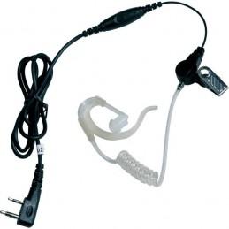 Kit écouteur transparent PTT pour Kenwood