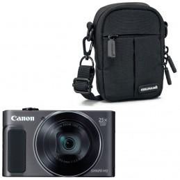 Canon PowerShot SX620 HS Noir + Cullmann Malaga Compact 300 Noir