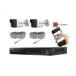 Kit vidéosurveillance 2 caméras IP tube full HD