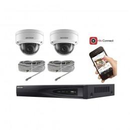 Kit vidéosurveillance 2 caméras IP dôme full HD 2MP voomstore.ci