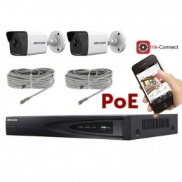 Kit vidéosurveillance POE 2 caméras IP tube full HD 2MP voomstore.ci