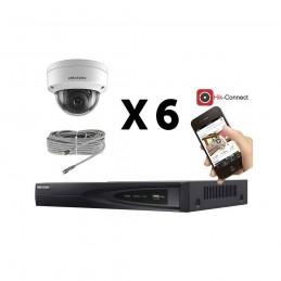 Kit vidéosurveillance 6 caméras IP dôme full HD 2MP voomstore.ci