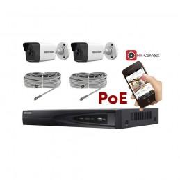 Kit vidéosurveillance PoE 2 caméras IP dôme full HD 2MP voomstore.ci
