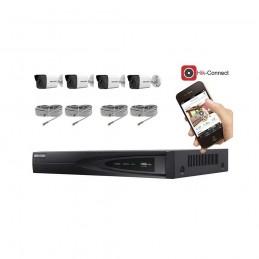 Kit vidéosurveillance 4 caméras IP tube full HD 2MP voomstore.ci