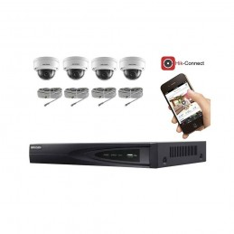 Kit vidéosurveillance 4 caméras IP dôme full HD 2MP voomstore.ci