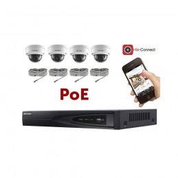 Kit vidéosurveillance PoE 4 caméras IP dôme full HD 2MP voomstore.ci