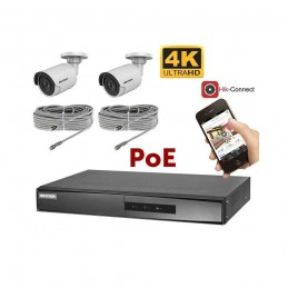 Kit vidéosurveillance 4K PoE 2 caméras IP mini-tube voomstore.ci