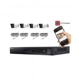 Kit vidéosurveillance 4 caméras IP tube ultra HD 4MP voomstore.ci