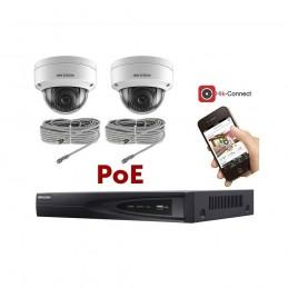 Kit vidéosurveillance PoE 2 caméras IP dôme ultra HD 4MP voomstore.ci