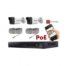 Kit vidéosurveillance PoE 2 caméras IP tube ultra HD 4MP voomstore.ci