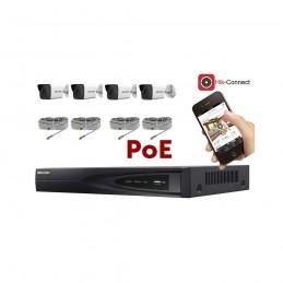 Kit vidéosurveillance PoE 4 caméras IP tube ultra HD 4MP voomstore.ci