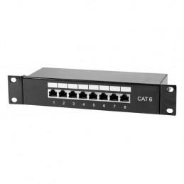 Panneau de brassage 8 ports catégorie 6 FTP pour coffret / armoire / baie 10''