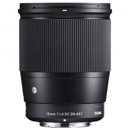 SIGMA 16mm F1.4 DC DN Noir monture Sony