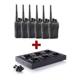 Pack de 6 Talkie walkie Midland G15 + chargeur multiple voomstore.ci