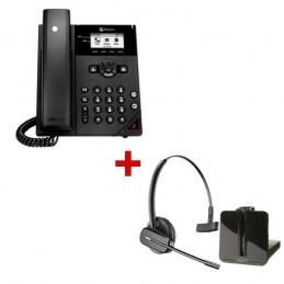 Polycom VVX 150 IP Phone + Plantronics CS540