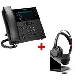 Polycom VVX 450 IP Phone + Plantronics Voyager Focus UC