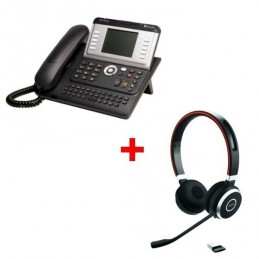 Alcatel 4068EE IP Touch Reconditionné + Jabra Evolve 65 USB UC Duo
