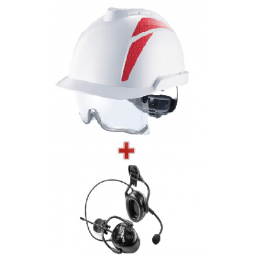 Pack Casque De Chantier Et Protection Auditive À Modulation Sonore