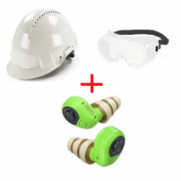 Pack Casque De Chantier Avec Protection Auditive Et