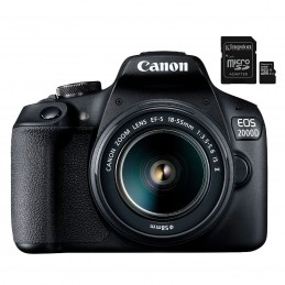 Canon EOS 2000D + EF-S 18-55 mm IS II + Kingston Canvas Select