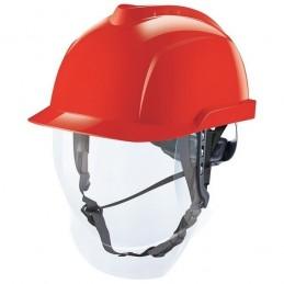 Casque de Chantier MSA V-Gard 950 non-ventilé avec écran intégré - Rouge