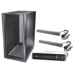 APC Smart-UPS Rack-Mount 2200VA LCD 230V + APC NetShelter SX 24U Deep Enclosure + 2x APC Basic Rack PDU vomstore.ci