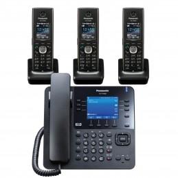 Pack Panasonic KX-TPA68 SIP DECT + 3 Panasonic KX-TPA60