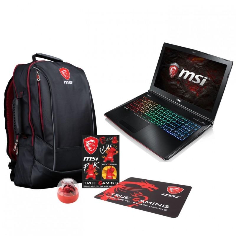 MSI GE62 7RE-021FR Apache + Pack MSI Back to School