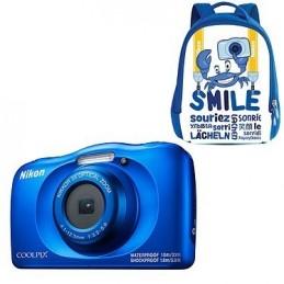 Nikon Coolpix W150 Bleu + Sac à