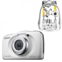 Nikon Coolpix W150 Blanc + Sac à dos