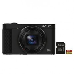 Sony Cyber-shot DSC-HX90 + SanDisk Extreme microSDHC UHS-I U3 V30 32 Go + Adaptateur SD