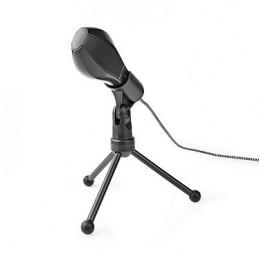 Nedis Microphone filaire double condensateur Tripod USB