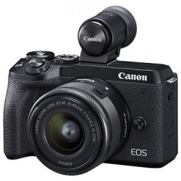 Canon EOS M6 Mark II Noir + 15-45mm + Viseur