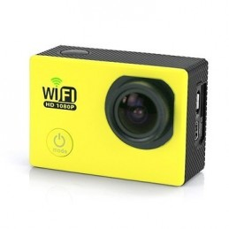 YONIS Caméra sport waterproof Jaune Y-4660