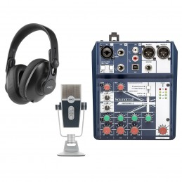 Soundcraft Notepad-5 + AKG Lyra + AKG K361-BT