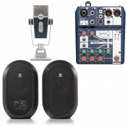 Soundcraft Notepad-5 + AKG Lyra + JBL 104-BT