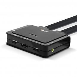 Lindy Switch KVM HDMI / USB-C / USB 2.0 / Audio (2 ports)  VOOMSTORE.CI