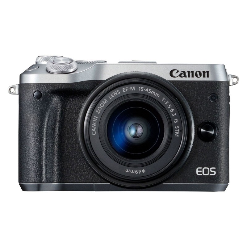 Canon EOS M6 Argent + EF-M 15-45 mm IS