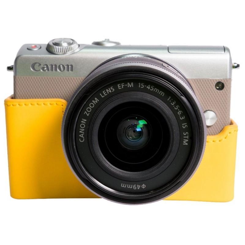 Canon EOS M100 Argent + EF-M 15-45 mm IS STM + Étui