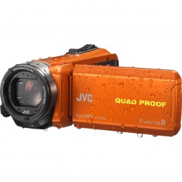 JVC GZ-R435 Orange + Carte SDHC 8 Go
