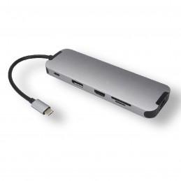 Générique Station d'accueil USB-C multi-ports 10 en 1 avec HDMI/DisplayPort   VOOMSTORE.CI
