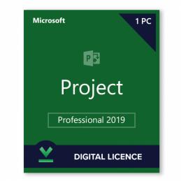 Microsoft Project Professionnel 2019 - 1PC - 32/64 - français