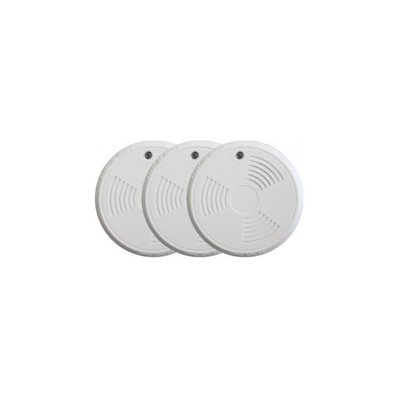 Pack de 3 détecteurs de fumée