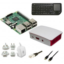 Raspberry Pi 3 Multimedia Kit (blanc) VOOMSTORE.CI